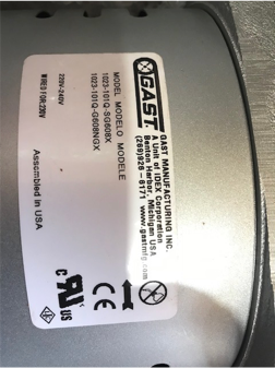 How To Rebuild A Gast Rotary Vane Compressor - Aerobic ... Gast Model Doa Wiring Diagram on